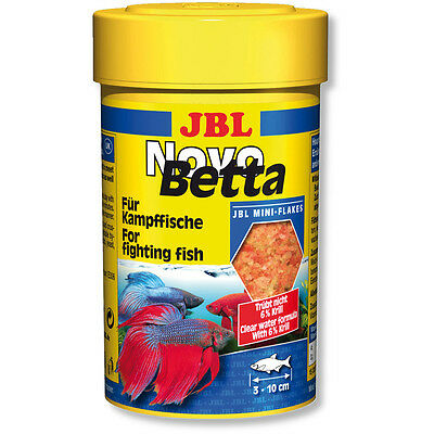 JBL NovoBetta 100ml - Siamese Fighter Food Mini Flakes Novo Betta & Gouramis