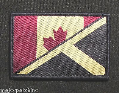 Canada Scotland Maple Leaf Saltire Flag Isaf Subdued Hook & Loop Patch