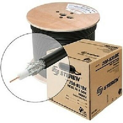 Steren 200-929BK Coaxial Audio/Video Cable - Coaxial - 1000 ft - Bare Wire