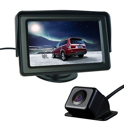 "Car Rear View System Backup Reverse Camera 170° Angle + 4.3"" TFT LCD Monitor"