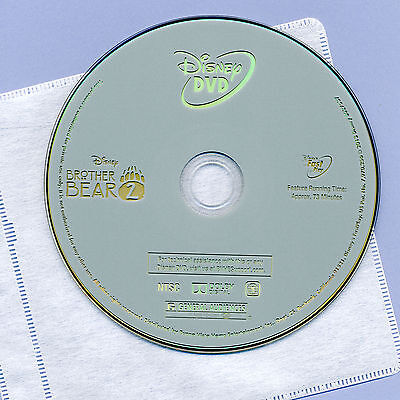 Walt Disney Brother Bear 2, 2006 G animated family movie, mint DVD disc & sleeve
