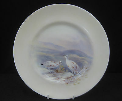 Royal Doulton hand Painted Game Birds Cabinet Plate 'Snow Grouse'. 24cm.