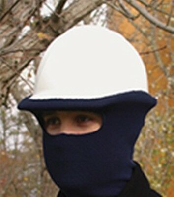 Winter Hard Hat Face Mask - Navy Blue 100% Polyester Knitted By ERB 19558