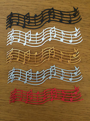 4 Strips Pre Made Edible Cake Lace Decoration Musical Notes Music