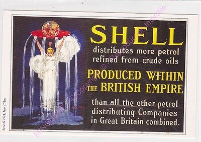 Cp Postcard Affiche Ads Shell Oil Shell Distributes More Petrol Refined