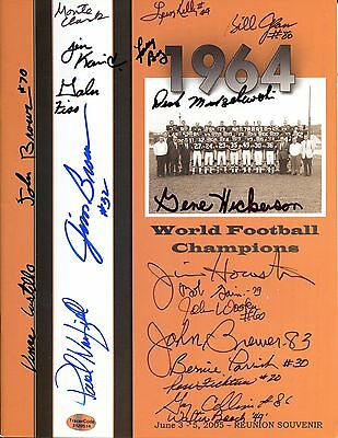Cleveland Browns 1964 Championship Team Reunion Program 42 Signatures  Jim Brown