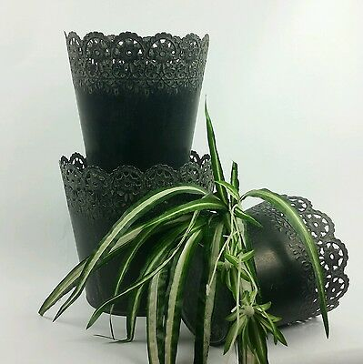 Decorative Metal Baskets Antique French Country Style Set of 3