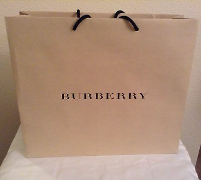 New Large Burberry Shopping Paper Bag 16X18.5
