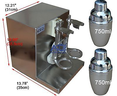 Stainless steel Double-cup Auto Milk Tea Shaker Shaking Machine