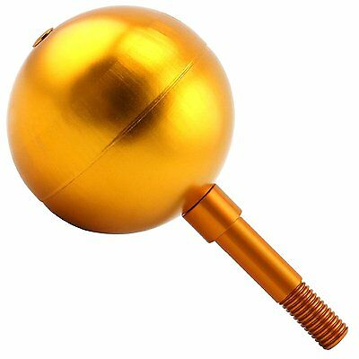 Gold Anodized Aluminum Flagpole Ball Ornament 3 Inch Suitable for US Flag New