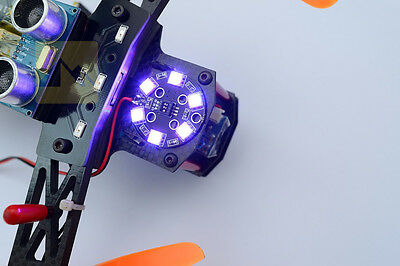 RGB LED Round Circle Board X8/16V Night lights for rc quadcopter helicopter