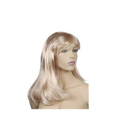 New Retails Platinum Blonde Synthetic Hair Mannequin Wig