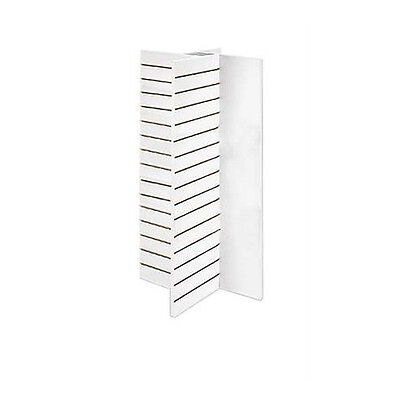 """New Retails White Finished 4-Panel Slatwall Tower 23""""L x 23""""W x 48""""H"""