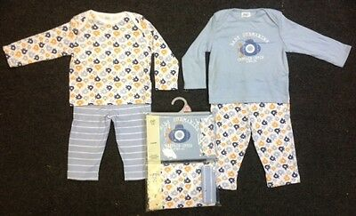 Ex F & F Baby Boys Blue Submarine Boat 2 Pack Snuggle Pyjamas 0 3 6 9 12 18 Mths