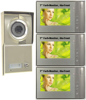 "Video Door Phone Türsprechanlage 1 Familie 7"" LCD Interphone Sprechanlage G"