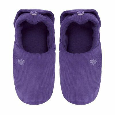 Ladies Aroma Home Lavender Scented Microwavable Slippers - Fits up to a Size 7