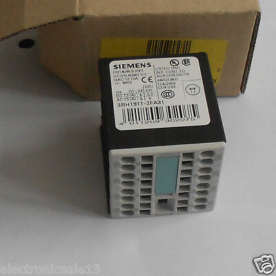 Siemens Auxiliary switch block part no. 3RH1911-2FA31