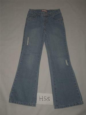Girls Levi Blue Jeans Size 10 R Adjustable Waist Distressed -1012H55