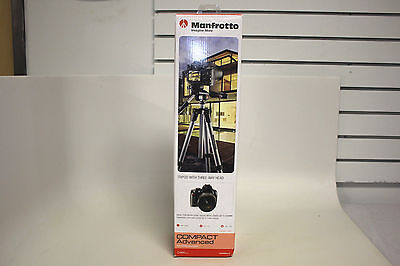 "Manfrotto 65"" Compact Action Tripod MKCOMPACTADV-B - Black *READ*"