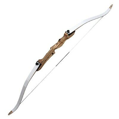 "Traditional 66"" Left Hand Take Down Archery Hunting Wooden Adult Recurve Bow Set"