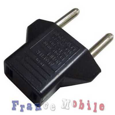 Usa To Eu Euro Ac Power Plug Adapter Travel Voyage Converter Convertisseur