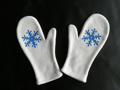 Vocaloid 2 Snow Schnee Miku Cosplay Kostüm costume gloves Handschuhe