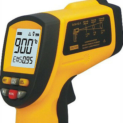 GM900 -50 to 900°C Non-Contact IR Digital Infrared Thermometer Laser Point Gun