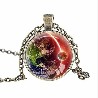 Vintage Earth Old Fashioned Antique Style Glass Photo Necklaces & Pendants!