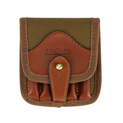 Tourbon Rifle Cartridge Pouch Ammo Wallet Bullets Case Shell Hold Canvas Leather