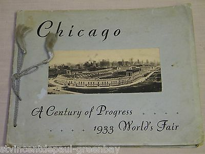 Chicago A Century of Progress 1933 Worlds Fair Photo Book Album (1st ed 6-1-32)