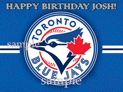 JAYS Edible ICING Image Birthday CAKE Topper Decoration Toronto Bluejays