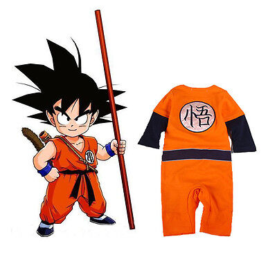 Dragon Ball Z cosplay baby boy costumes jumpsuit girl rompers long sleeve set