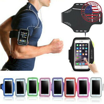 For iPhone XS X 8 7 6s Plus Sports Gym Running Jogging Armband Case Cover Holder
