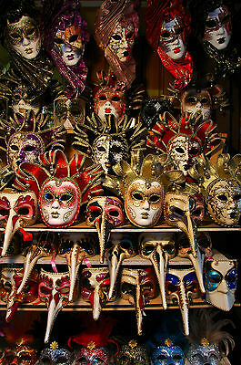 Stunning Venetian Carnival Party Masks Canvas #21 Wall Hanging Picture Art A1