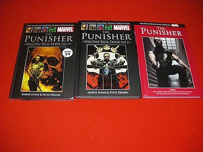 Punisher Welcome Back Frank Part 1 & 2  Circle Of Blood Hardback Graphic Novel