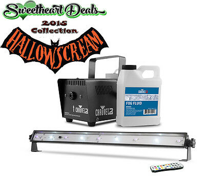 HALLOWEEN Lighting Chauvet Scare Pack Fog & Strobe & Black Light FREE Fog Juice!