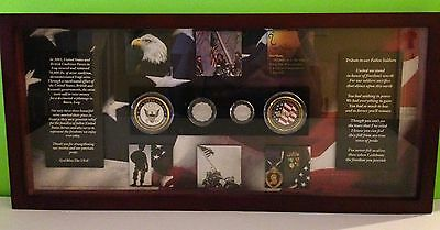 Rare White House Edition Navy Veteran  Glass Enclosed  Shadowbox