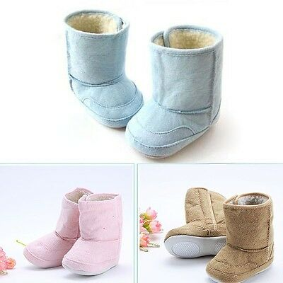 Lovely Newborn Infant Boy Girl Warm Winter Snow Shoes Baby Boots Prewalker 0-18M