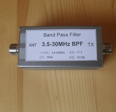 3.5-30MHz band-pass filter BPF for Reduce shortwave interference Radio Ham