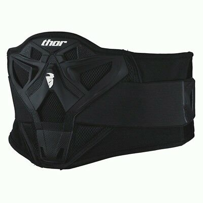 Thor NEW Mx Sector Kidneybelt Lower Back Support Black Motocross Kidney Belt