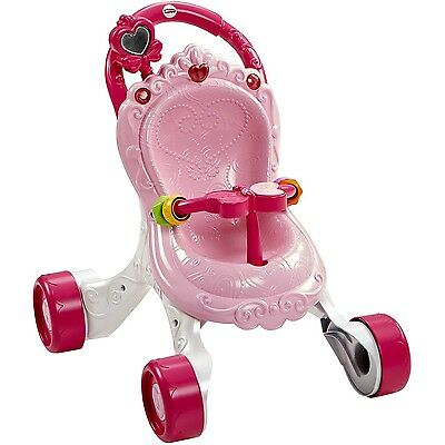 Fisher-Price Baby Girl Pink Walker Stroll-Along Musical Stroller Christmas Gift