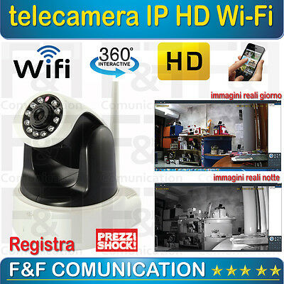 Telecamera 360 Gradi Motorizzata Ip Wifi Wireless Hd Pvr Led Smartphone 720P