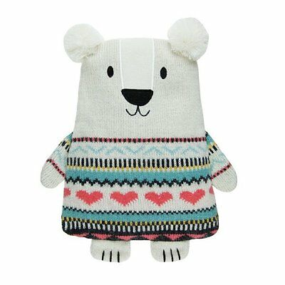 Aroma Home Snuggle Hottie POLAR BEAR Knitted Microwavable Scented Body Warmer