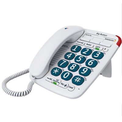 BT Big Button 200 Corded Large Button Telephone Home Phone In White