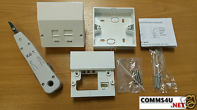 Genuine BT Master Socket vDSL2/ADSL Phone Filter Faceplate +Box 4 Openreach Nte5