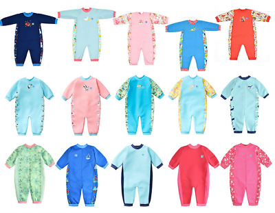 Splash About Warm In One Baby Wetsuit Toddler Fleece Lined Swimming Warm-In-One