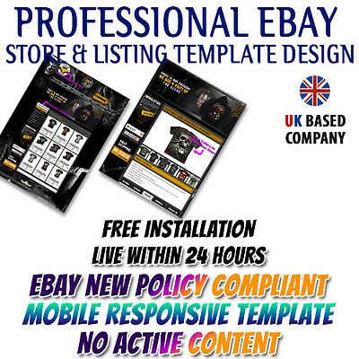 Lovely eBay Store Shop Template ,eBay Listing Mobile Responsive Template-T-Shirt