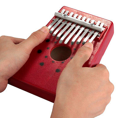 Arrival Red 10Keys Kalimba Mbira Thumb Piano traditional Musical Instrument