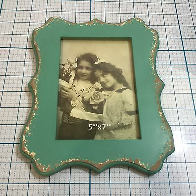 New Vip International Wooden Picture Frame Frames Funky Blue 5x 7
