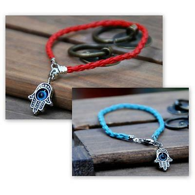 KABBALAH RED or BLUE STRING BRACELET Good Luck EVIL EYE CHARM Protection Hand